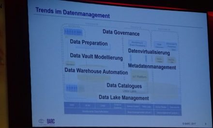 Current trends in Data Management by BARC