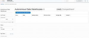 Getting started with Oracle Autonomous Data Warehouse (ADW